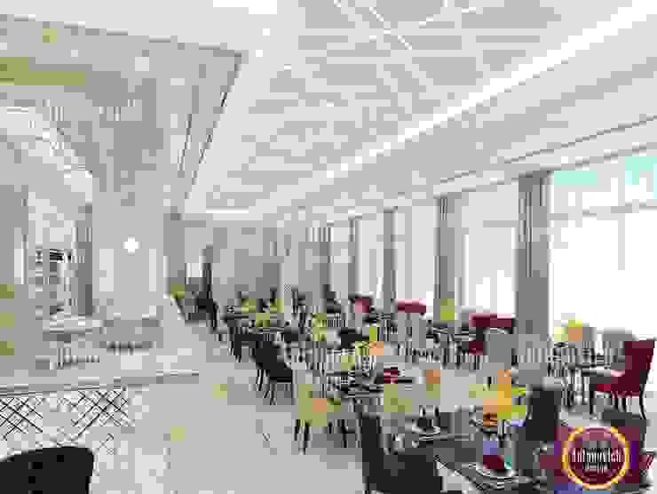 Gourmet Restaurant interior design by Katrina Antonovich Modern dining room by Luxury Antonovich Design Modern