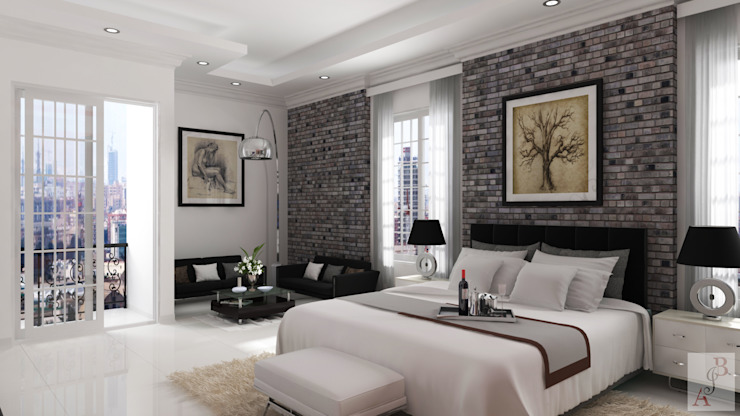 vista 1 Habitaciones modernas de A.BORNACELLI Moderno Concreto
