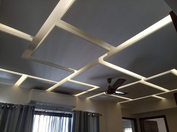 square false ceiling by classicspaceinterior