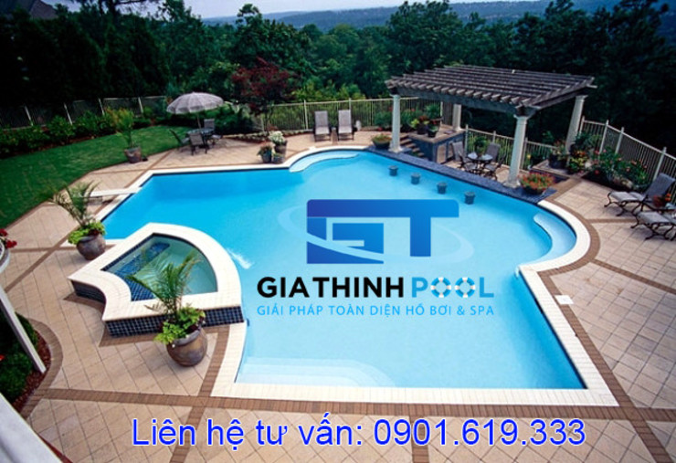 Tư vấn thiết kế hồ bơi gia đình: hiện đại  by GIATHINHPOOL - HCM, Hiện đại