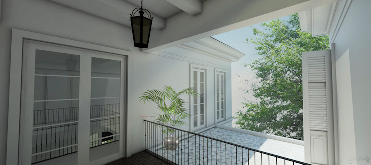 Light Classic Koridor & Tangga Klasik Oleh AIGI Architect + Associates Klasik Beton