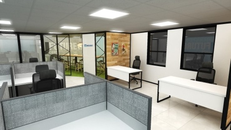 Edificios de oficinas de estilo moderno de 아임커뮤니케이션즈 Moderno