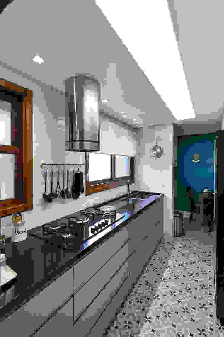 Móveis Sob Medida Rabisco Arquitetura Armários e bancadas de cozinha MDF Cinza