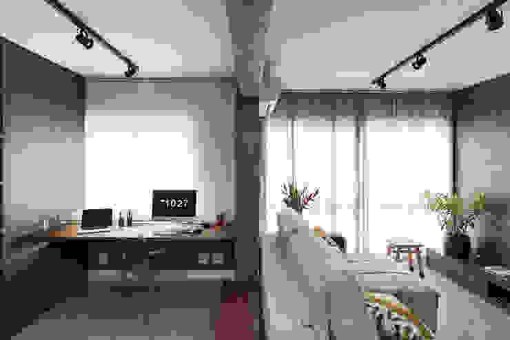 Delimitação Sutil Salas de estar modernas por Rabisco Arquitetura Moderno Concreto