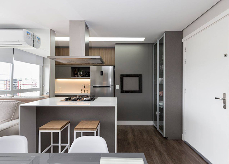 Rabisco Arquitetura Kitchen units Wood Grey