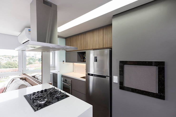 Rabisco Arquitetura Kitchen units MDF Wood effect