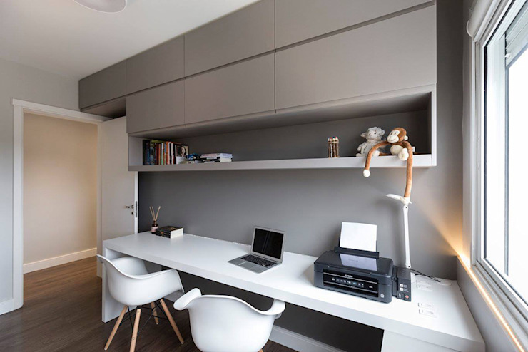 Modern study/office by Rabisco Arquitetura Modern MDF