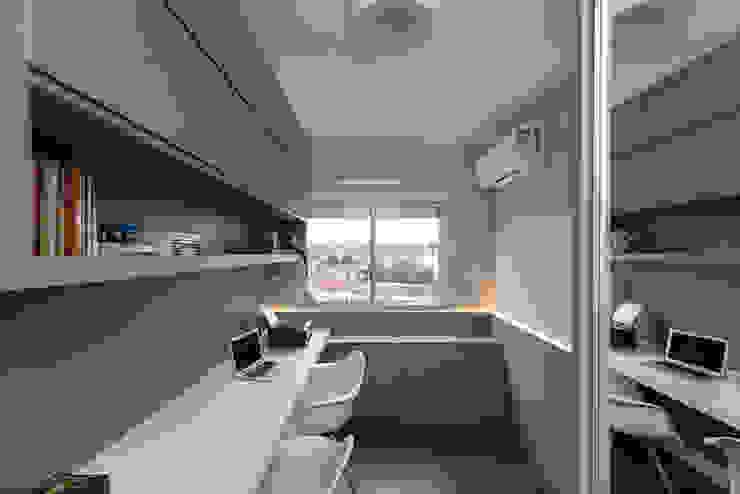 Rabisco Arquitetura Ruang Studi/Kantor Minimalis MDF White