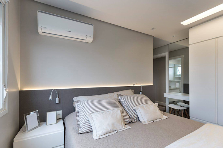 Rabisco Arquitetura Small bedroom MDF Grey