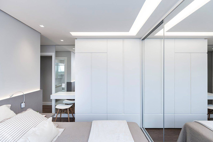 Rabisco Arquitetura Small bedroom MDF White