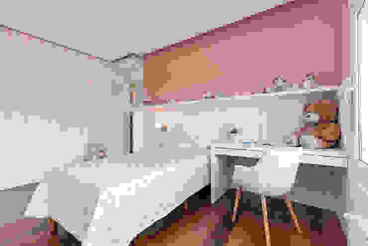 Rabisco Arquitetura Modern style bedroom MDF Pink