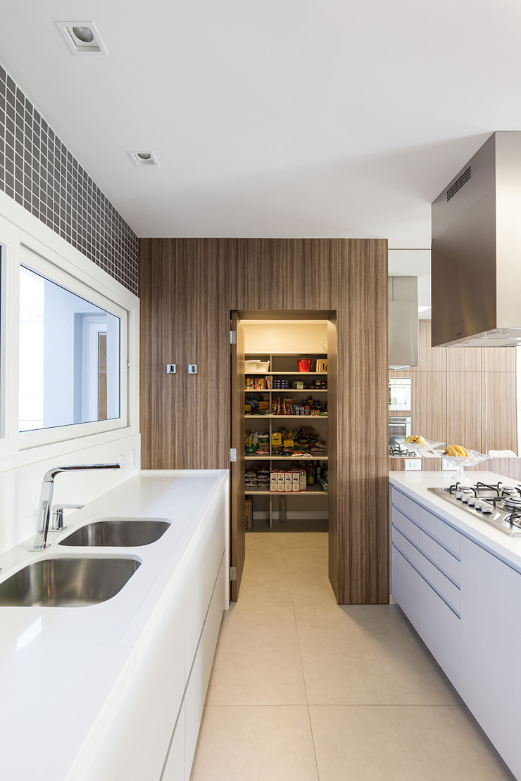 Rabisco Arquitetura Modern kitchen MDF Wood effect