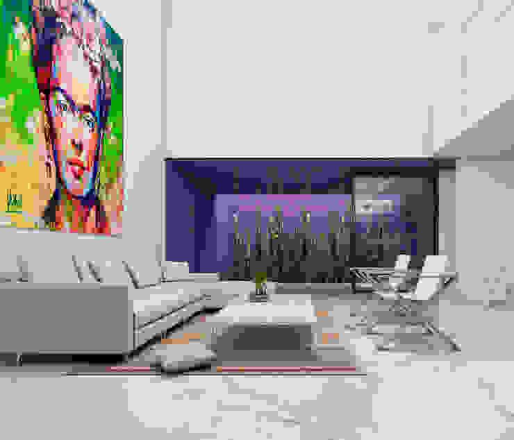 Salas de estilo minimalista de Obed Clemente Arquitecto Minimalista Concreto