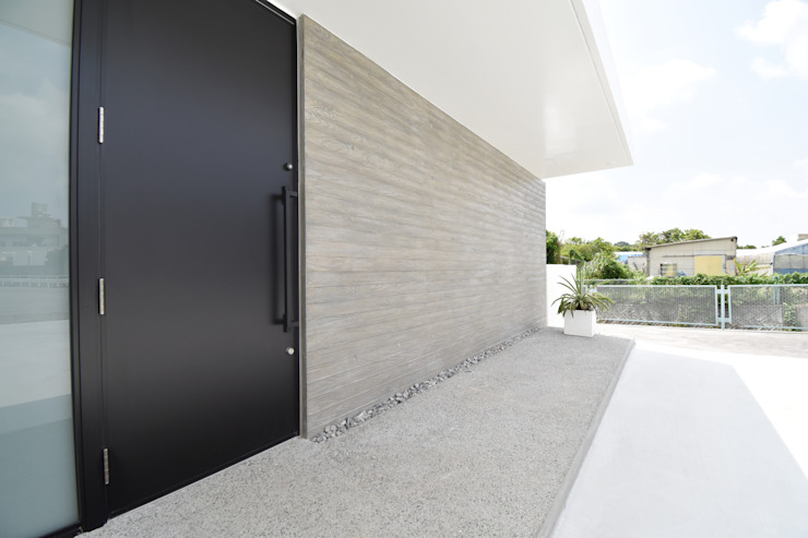外壁 モダンな 壁&床 の Style Create モダン コンクリート