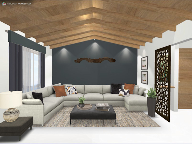 Eclectic style living room by Gaby Cons Deco & Handmade Eclectic