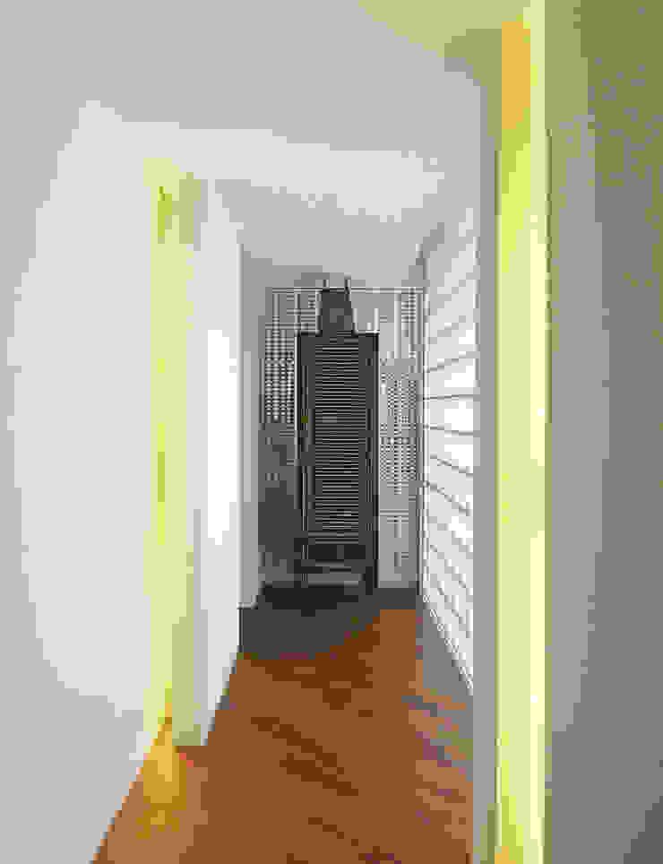 HIROO FLAT 裏手の広大な森を借景とした住まい モダンスタイルの 玄関&廊下&階段 の JWA,Jun Watanabe & Associates モダン