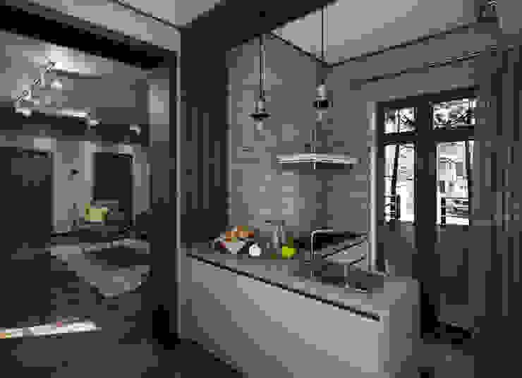 Загородный дом в стиле лофт Кухня в стиле лофт от Alt дизайн Лофт Дерево Эффект древесины