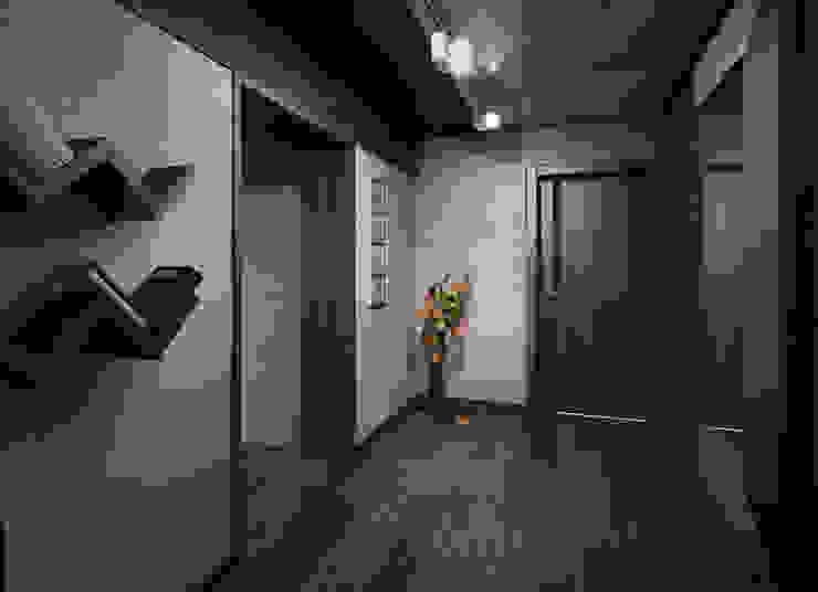 Загородный дом в стиле лофт Коридор, прихожая и лестница в стиле лофт от Alt дизайн Лофт Дерево Эффект древесины