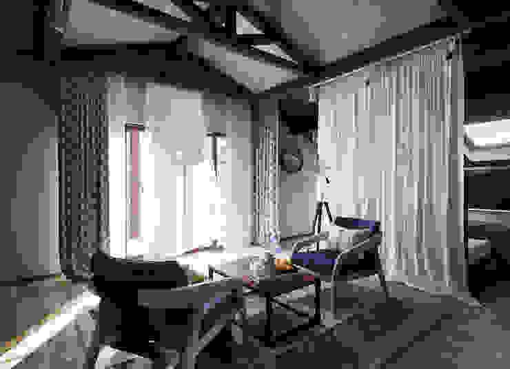 Загородный дом в стиле лофт Спальня в стиле лофт от Alt дизайн Лофт