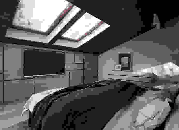 Загородный дом в стиле лофт Спальня в стиле лофт от Alt дизайн Лофт ДСП