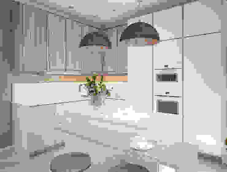 Современная кухня Alt дизайн Кухня в стиле минимализм Дерево Белый