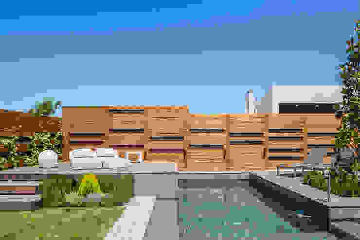 Diseño y construcción de piscinas y jardines zen en Madrid AGi architects arquitectos y diseñadores en Madrid Piscinas de jardín Granito Verde