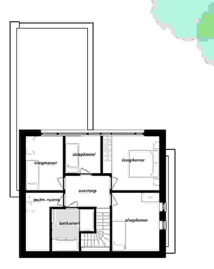 Plattegrond verdieping van Bolier Ontwerp & Bouwregie