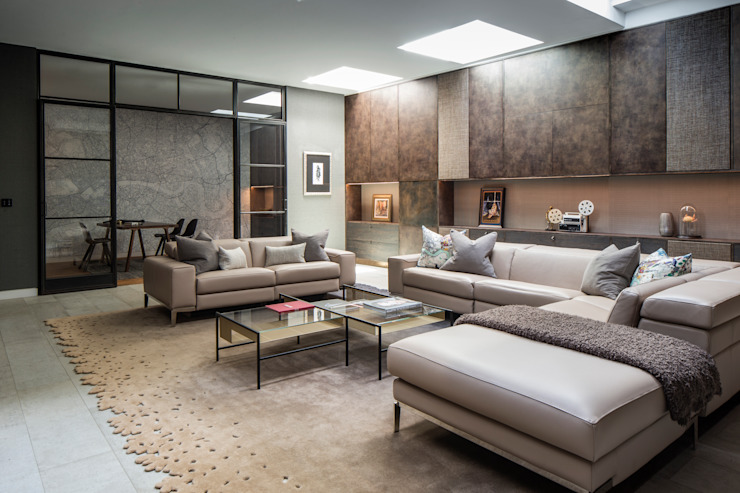 St John's Wood Family Home, Cinema Room Roselind Wilson Design Salas multimedia de estilo moderno