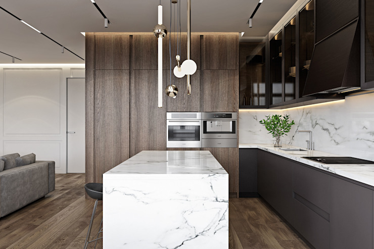 Cocinas de estilo moderno de U-Style design studio Moderno