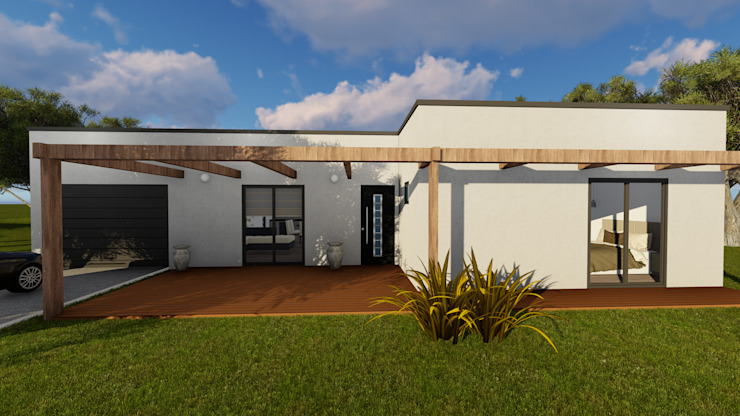 Discovercasa | Casas de Madeira & Modulares Casa di legno Legno Bianco