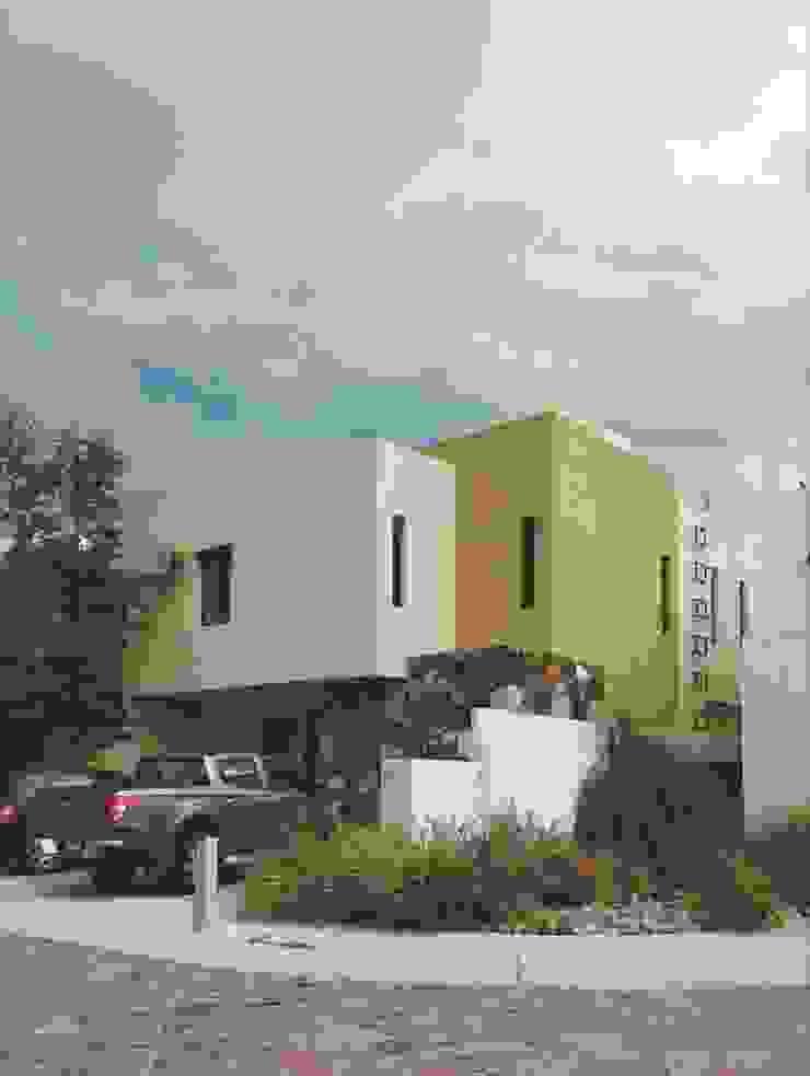 Fachada de estilo ecléctico Alberto M. Saavedra Detached home Stone Beige