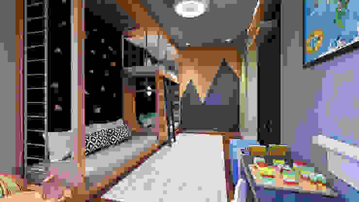 Apartamento 04 Entreponto Arquitetura Quarto infantil industrial