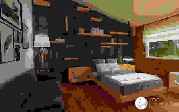 RECAMARA PUERTA DE HIERRO Dormitorios modernos de T+F Arquitectos Moderno