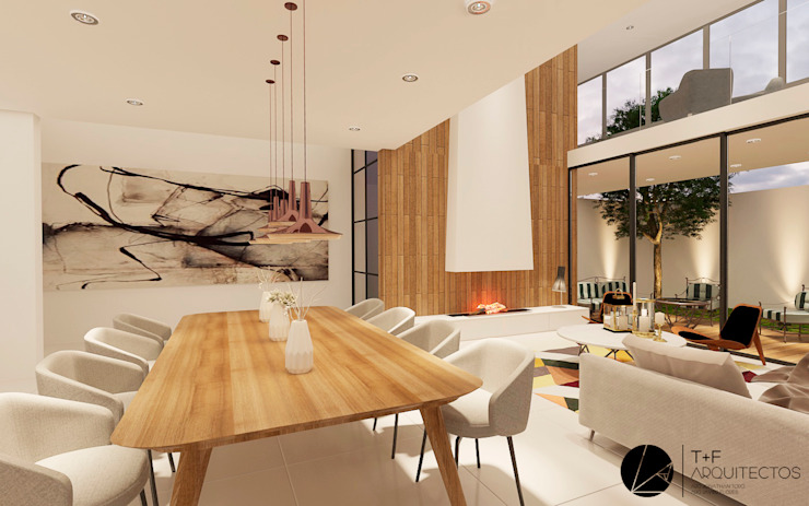 Dining room by T+F Arquitectos,