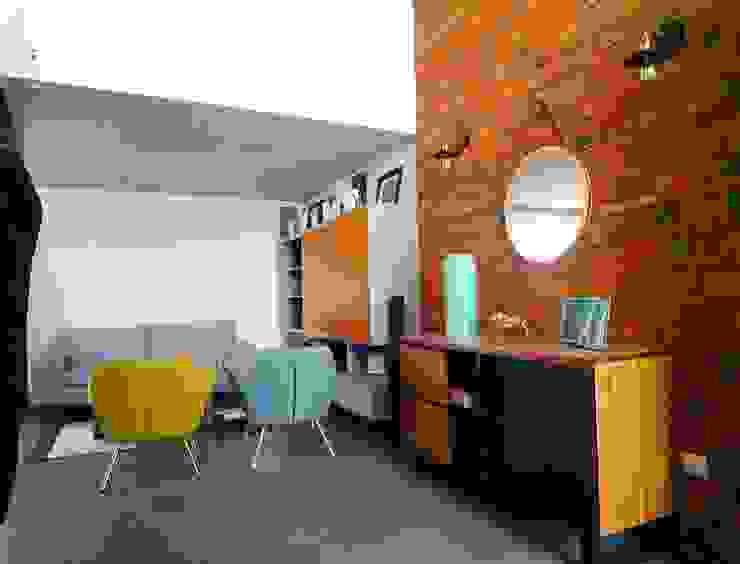 Casa GJ Salas de estilo ecléctico de Estudio Chipotle Ecléctico Aglomerado