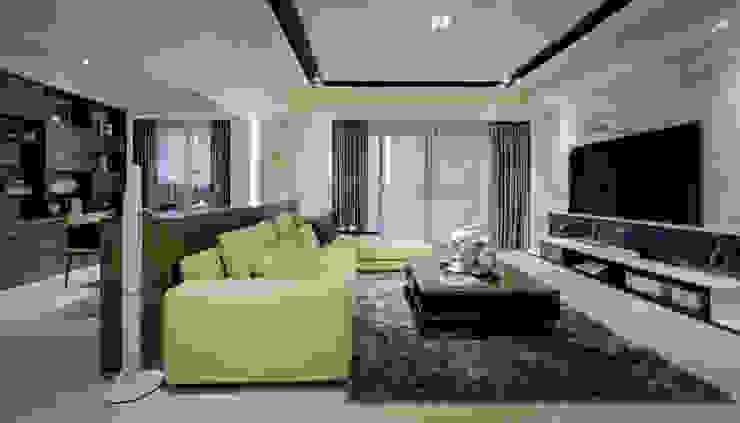 明日城 现代客厅設計點子、靈感 & 圖片 根據 星葉室內裝修有限公司 現代風
