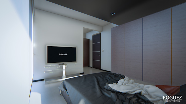 Modern style bedroom by Roguez Arquitectos Modern