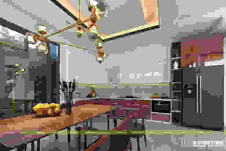 NHÀ Ở GIA ĐÌNH Nhà bếp phong cách hiện đại bởi UK DESIGN STUDIO - KIẾN TRÚC UK Hiện đại