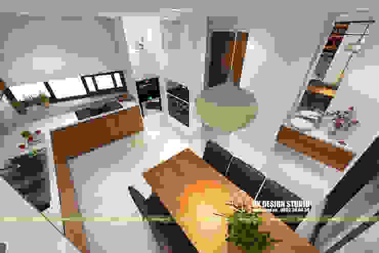 NHÀ PHỐ KẾT HỢP VĂN PHÒNG Phòng ăn phong cách hiện đại bởi UK DESIGN STUDIO - KIẾN TRÚC UK Hiện đại