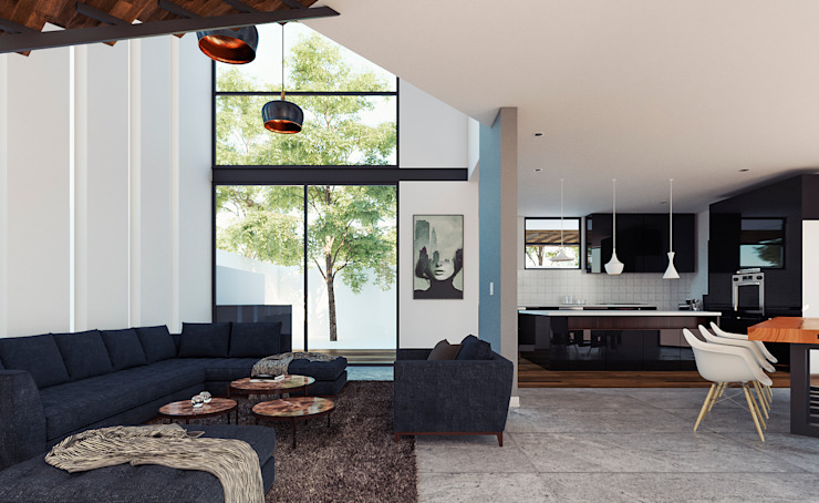 Living room by CSR ARQUITECTURA,