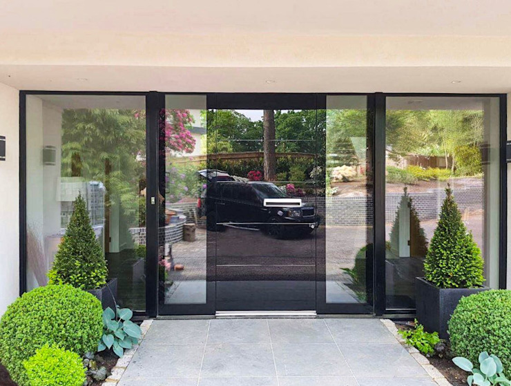 General Images RK Door Systems Front doors Glass Black