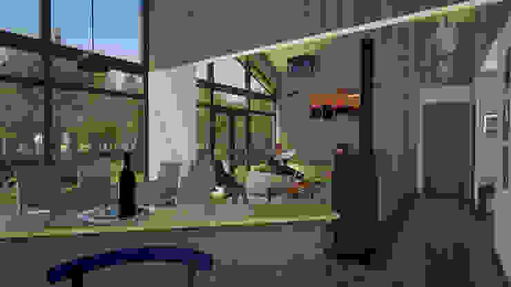 Vista desde Cocina a Comedor y Living Livings de estilo clásico de homify Clásico Madera Acabado en madera