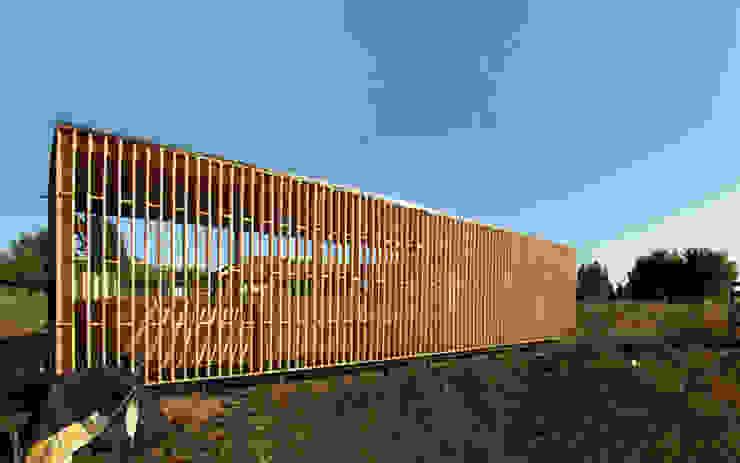 Fachada Poniente Balcones y terrazas escandinavas de mutarestudio Arquitectura Escandinavo
