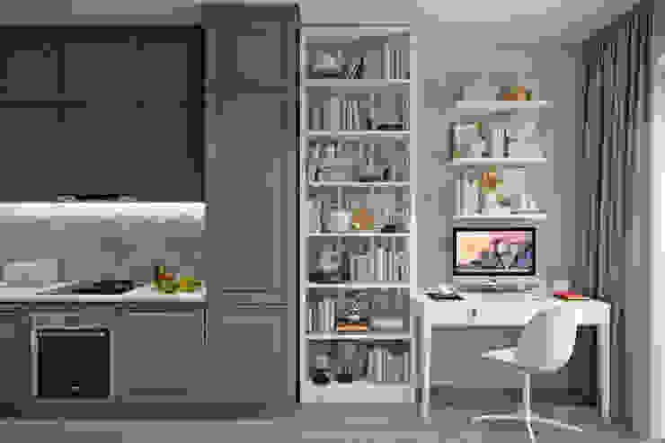 Апартаменты 40 кв.м., в стиле эклектика ЖК I*m. Студия архитектуры и дизайна Дарьи Ельниковой Кухни в эклектичном стиле