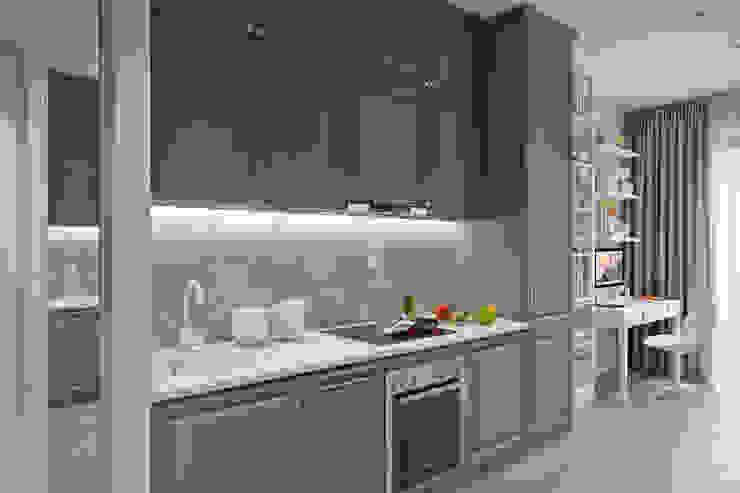 Апартаменты 40 кв.м., в стиле эклектика ЖК I*m. Кухни в эклектичном стиле от Студия архитектуры и дизайна Дарьи Ельниковой Эклектичный