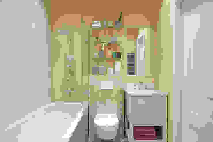 Апартаменты 40 кв.м., в стиле эклектика ЖК I*m. Ванная комната в эклектичном стиле от Студия архитектуры и дизайна Дарьи Ельниковой Эклектичный