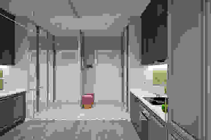 Ingresso, Corridoio & Scale in stile eclettico di Студия архитектуры и дизайна Дарьи Ельниковой Eclettico
