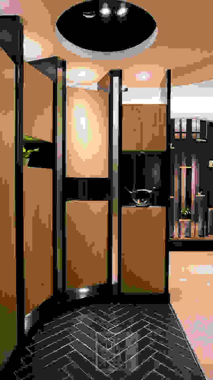 柯公館 現代風玄關、走廊與階梯 根據 沐築空間設計 現代風