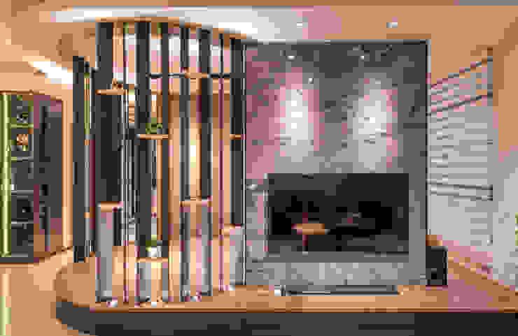 柯公館 现代客厅設計點子、靈感 & 圖片 根據 沐築空間設計 現代風