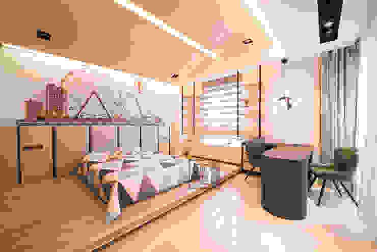 Dormitorios de estilo  de 沐築空間設計,